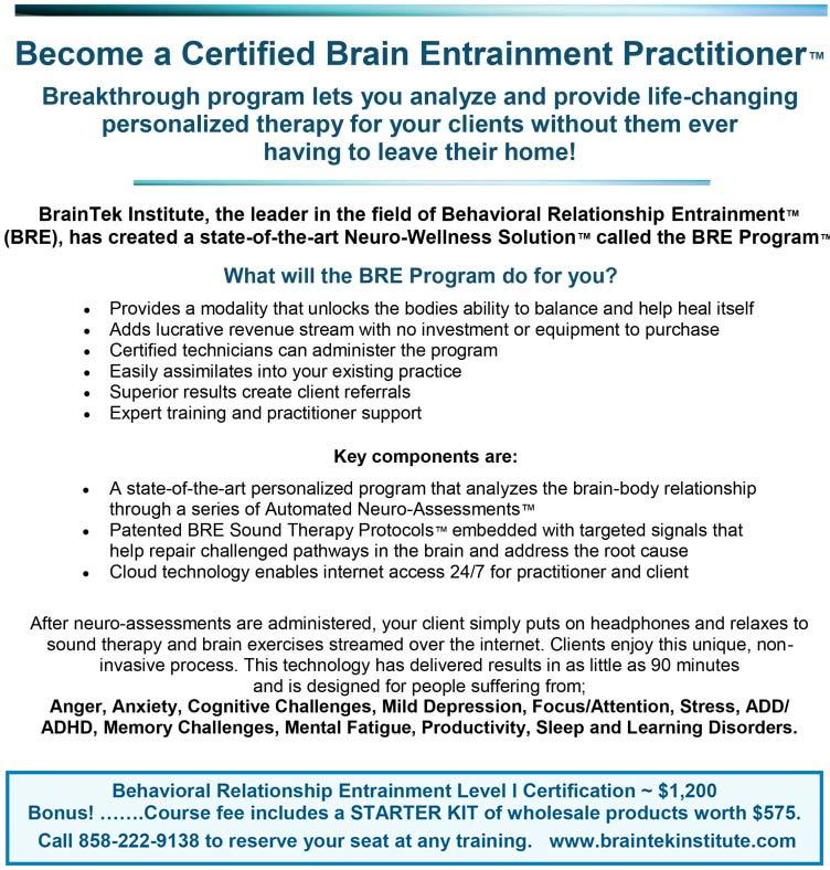 Bre Program Certification Course Level 1 Training